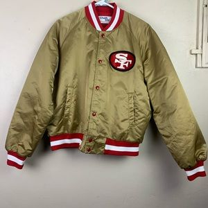 Chalk Line 49ers Bomber Jacket Varsity Logo SF